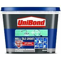 UniBond - Lechada triple protección antimoho para azulejos (1.38 kg), color negro