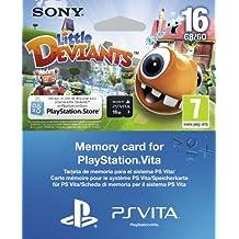 PS Vita - Tarjeta De Memoria De 16 GB +  Little Deviants Voucher