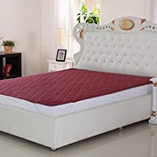 Signature Double Bed Waterproof and Dust Proof Mattress Protector(72X78-inch, Maroon)