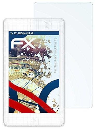 atFolix Schutzfolie kompatibel mit Alcatel One Touch Plus 12 Panzerfolie, ultraklare und stoßdämpfende FX Folie (2X)