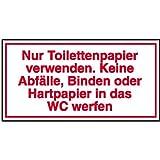 Nur Toilettenpapier verwenden. Keine Abfälle Hinweisschild, selbstkl.,20x10cm