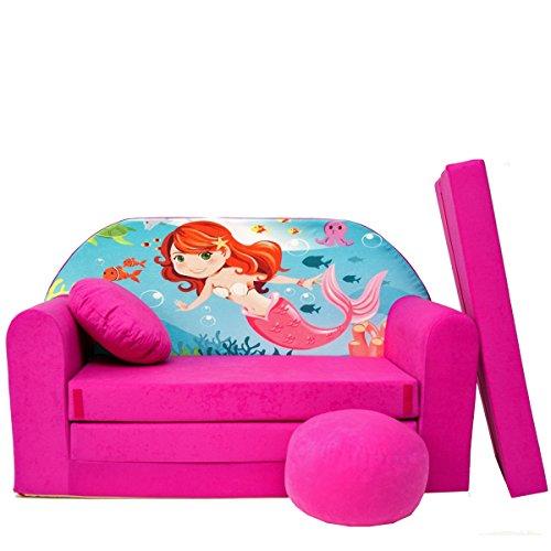 H4 + un bébé pour enfants Mini Canapé bébé Canapé lit Pouf Lot de 3 en 1 d'oreillers en mousse