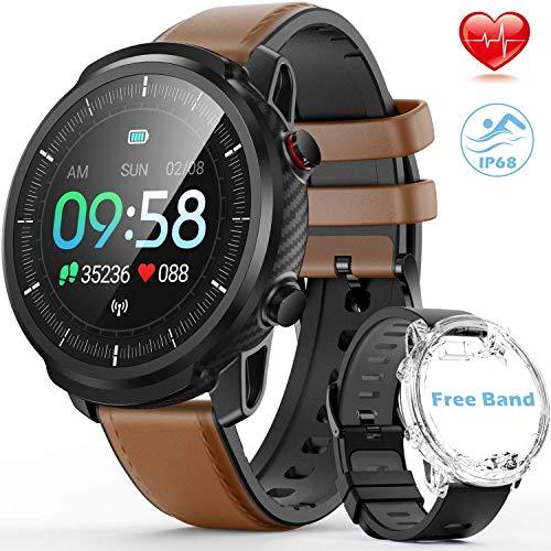 hommie orologio smartwatch, ip68 smartwatch uomo con touch screen, orologio sportivo uomo multifunzione con 9 sportivo, orologio fitness con gps dell'app per ios e android