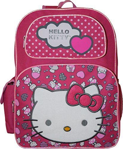Hello Kitty Deluxe embroidered 16 School Bag Backpack by Hello Kitty -