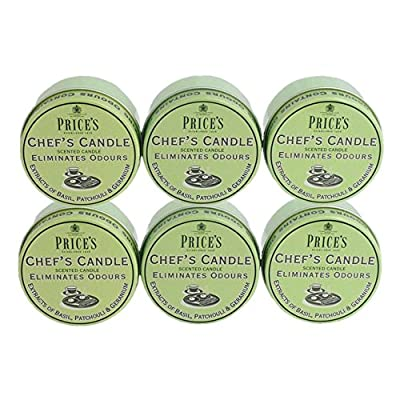 Prices Chefs Candle in Tin - Eliminates Odour Cooking Cooks Kitchen - 6 PACK by Prices