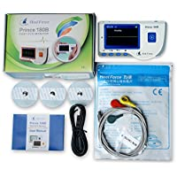 Heal Force Prince 180-B Easy Handheld Portable ECG Monitor With 3-Lead ECG Cable And Pack Of ECG Electrodes, Software and USB Cable by Heal Force