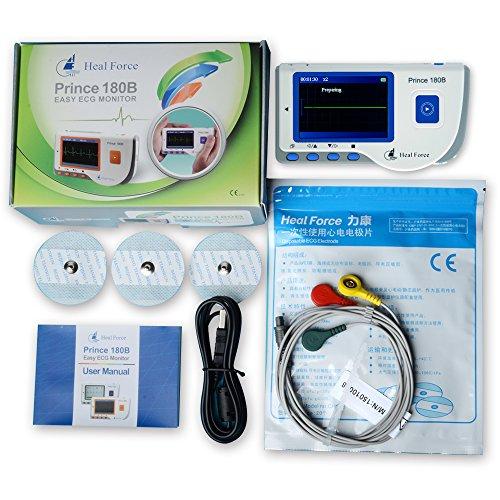 Heal Force Prince 180B Herz EKG-Monitor Datenrekorder (Herz-monitor)