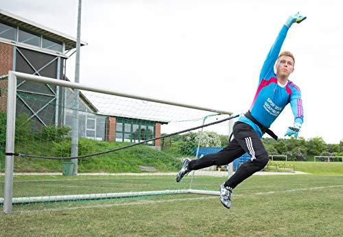 Sport-Thieme Torwart-Trainer Set | Fußball-Torwarttraining für Sprungkraft, Schnellkraft | Hochelastische Gummiseile, Hüftgurt, Karabiner, Netztasche | Länge: 2,60 m (dehnbar bis 8 m) | Markenqualität -