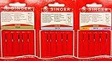 Singer 15 Original Nähmaschinen Nadeln Sortiment 2020 Stärke 70/09 80/11 90/14 100/16 für gewebte Stoffe