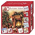 Bumper Box of 40  Cute Assorted Christmas Cards