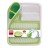 Snips 020931Kitchen Dish Drainer White with Green Inserts