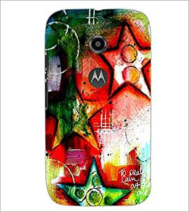 PrintDhaba Art Hub D-1244 Back Case Cover for MOTOROLA MOTO E2 (Multi-Coloured)