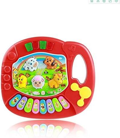 SKNSM Drôle Bébé Bébé Bébé  s Bambin Musical Ferme Animaux Clavier électronique Jouets (Rouge) pour Les  s de 7a1f40