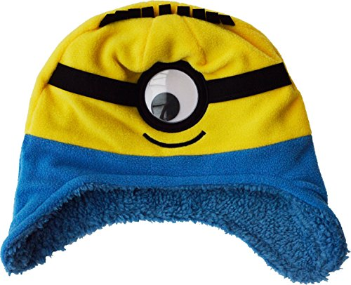 e Fleece Winter Hat, Gelb (Minions Beanie)