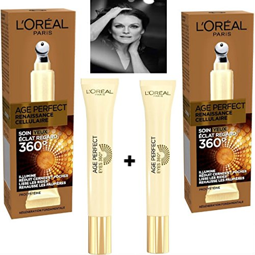 L 'Oréal Paris Age Perfect Renacimiento Celular cuidado ojos 15ml (lote de 2productos)