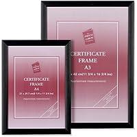 Photo Album Company Certificate Frame - Marco para premios y certificados A4, negro