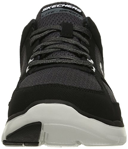 Skechers Flex Advantage 2.0, Chaussures Multisport Outdoor Homme Noir (BKW- Black White)