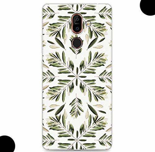 WEIFA 2017 New Nokia105 Soft Case, Very Light Slim Artist Special Camellia Leaves Picture Style, 2018 Newest Thin Anti-Scratch Cellphone Cover Case for 2017 Nokia 105