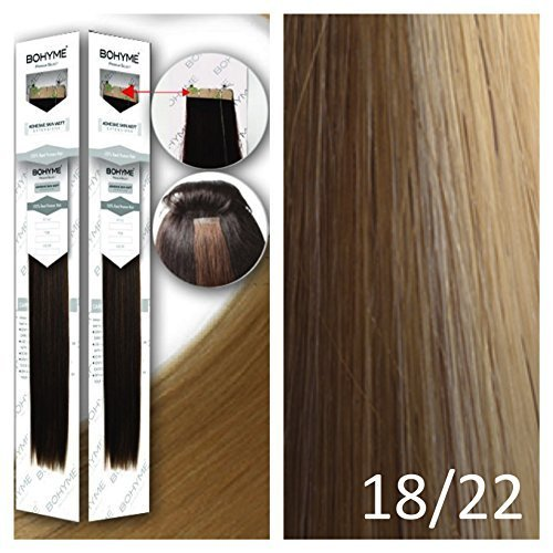 Bohyme Tape-In Skin Weft 100% Remi Human Hair Extensions (18\\