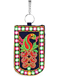 LadyBugBag Designer Assorted Trendy Mobile Pouch Wallet Saree Waist Clip Ladies Purse Clutch Gift For Women (Smart...
