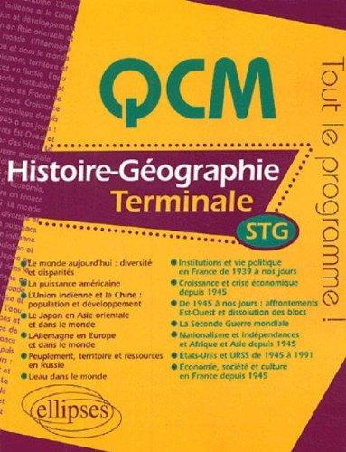QCM Histoire-Géographie Tle STG