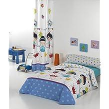 Quilt & CO Crown - Juego de funda nórdica para cama de 90 cm, 150 x 220 cm