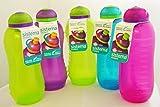 Set von 5Sistema 330ml Drink Flaschen, verschiedene Farben