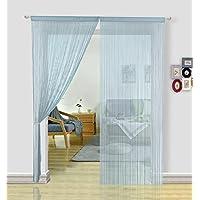 hsylym tejer cortina de paneles denso poliéster cortina de flecos Fly pantallas habitación separador para puerta ventana decoraciòn (90x 200cm)