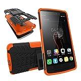 BMD-CASES Für Handy-Schutzhüllen, Für das Lenovo A7010-Gehäuse Dual-Layer-Hybrid-Rüstungsgehäuse abnehmbar [Kickstand] 2 in 1 stoßfestes Robustes Gehäuse (Farbe : Orange)