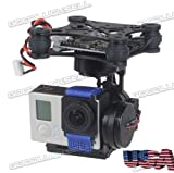 3axes Brushless Gimbal Camera mount avec 32bit Storm32contrôleur pour GoPro 34FPV Noir localisation: United States locale