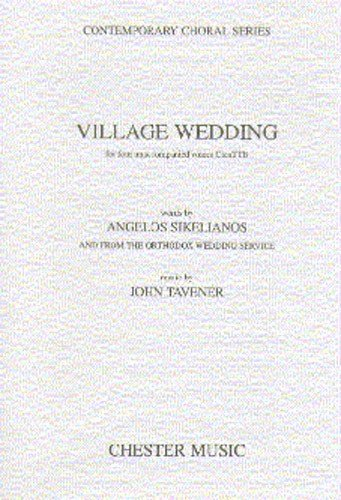 JOHN TAVENER: VILLAGE WEDDING  PARTITIONS POUR CONTRETENOR