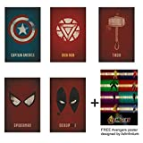 #8: Adinfinitum Superhero Posters |8 Inches X 12 Inches| 300 Gsm Paper Print Poster (Marvel Set Of 5)