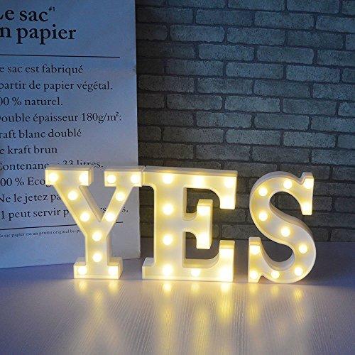 LED Alphabet Kombinieren Brief Licht Batterie Betrieben Party Hochzeit Festzelt Dekor Warm Weiß Nacht Licht Festival Geburtstag Parteien Zuhause Dekoration (YES)