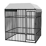vidaXL Chenil Extérieur Robuste pour Chiens 2x2 m Acier Cage Enclos Jardin
