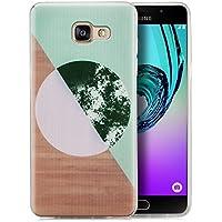 Coque Samsung Galaxy A5 (2016) Coque de Protection en Silicone Case [zanasta] Ultra Mince Premium Soft Flexible TPU Gel Cover Housse Etui Brun & Vert II
