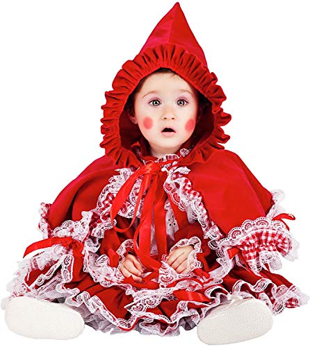 Costume di carnevale da piccola cappuccetto rosso lusso vestito per neonata bambina 0-3 anni travestimento veneziano halloween cosplay festa party 5038 taglia 2