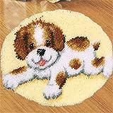 6 Modell Hund Knüpfteppich Formteppich für Kinder und Erwachsene zum