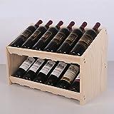 Ibuprofen Porte-Bouteilles en Bois Massif Deux Étagères Porte-Bouteilles Étagère à Vin Étagère à Vin Cave à Vin Armoire à Vin Rangement des Bouteilles de Vin Casier à Bouteilles de Vin, Blanc Pur