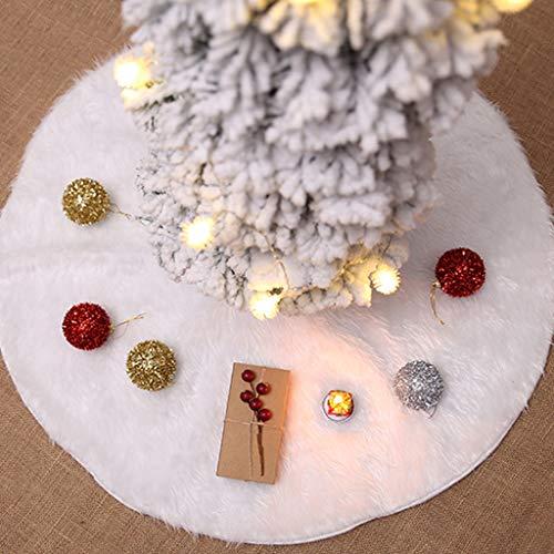 Siennaa Weihnachtsbaum Decke, Weihnachtsbaum Rock Dekoration Weiß Plüsch Weihnachtsbaumdecke Weihnachtsbaum Röcke Weihnachtsschmuck Weihnachtsbaum Deko Weihnachtsdeko (Plüsch#90CM) -