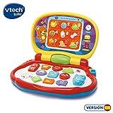VTech-Mis primeras Teclas Ordenador Infantil con Tres Modos de Juegos Que enseña Animales, Colores, Formas y Notas Musicales, (3480-191222)
