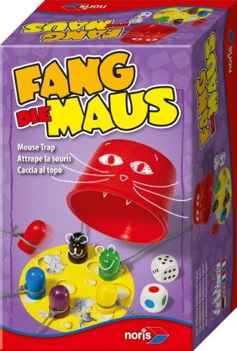 Noris Spiele 606144011 - Fang die Maus, (Die Im Hut Katze)