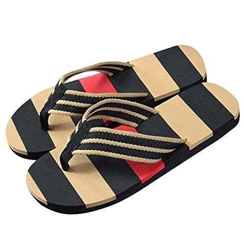 Les Sabots A Bascule - GreatestPAK Hommes sandales à rayures d'été chaussures
