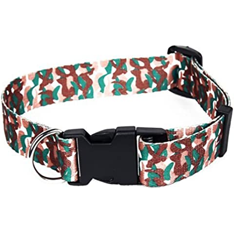 FreshGadgetz Set de 1 Collar de camuflaje para perro