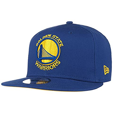 New Era 950 NBA Team Classic Snapback Cap (Medium / Large, Bleu - Golden State Warriors)