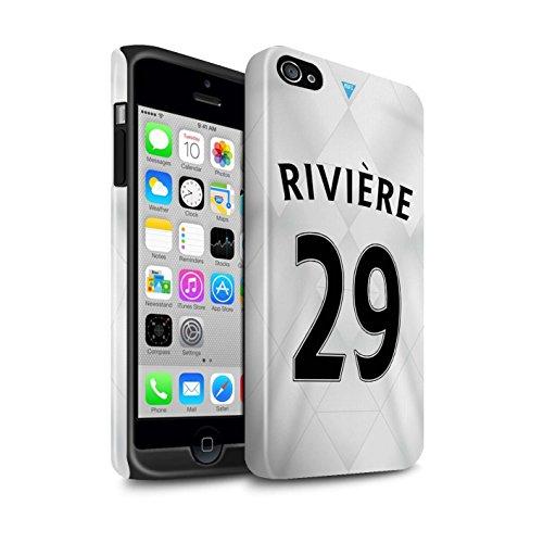 Officiel Newcastle United FC Coque / Brillant Robuste Antichoc Etui pour Apple iPhone 4/4S / Pack 29pcs Design / NUFC Maillot Extérieur 15/16 Collection Rivière