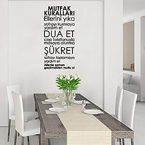 Islamische Wandtattoos - Meccastyle - Tischgebet - Mutfak Kurallari - A784