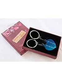 Llavero doble corazón partido, regalo parejas, economico, bonito, original.