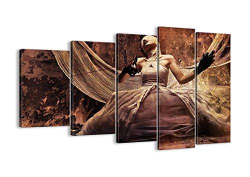 Bild auf Leinwand - Leinwandbilder - fünf Teile - Breite: 150cm, Höhe: 100cm - Bildnummer 0217 - fünfteilig - mehrteilig - zum Aufhängen bereit - Bilder - Kunstdruck - EG150x100-0217 (Schauspielerin Film Halloween-kostüme)