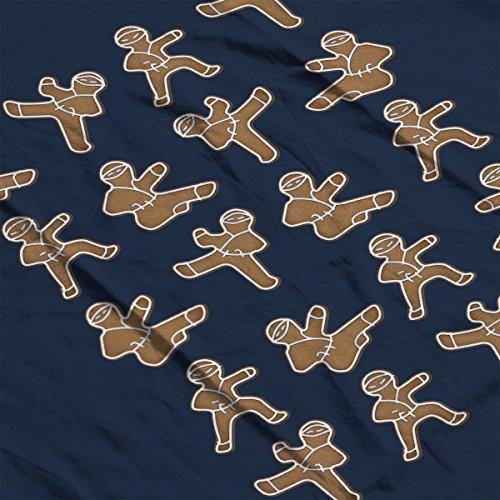 Gingerbread Man Ninjas Christmas Men's Vest Navy Blue
