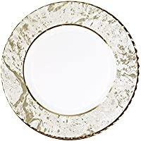 Talking Tables Party Porcelain Gold Large Paper Plates for Christmas, Birthdays, Weddings, Anniversaries and Party Celebrations, Gold, 28cm (8 Pack in 1 design)